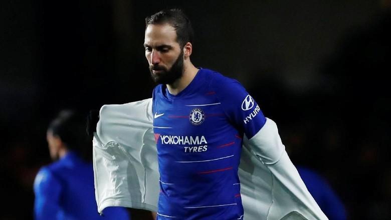 Gonzalo Higuain Cetak Dua Gol Perdana Di Chelsea
